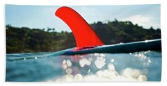 Red Fin Beach Towel