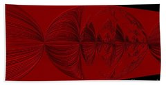 Red And Black Design. Art Beach Sheet