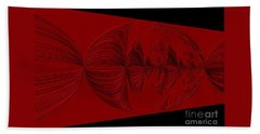 Red And Black Design Beach Towel by Oksana Semenchenko