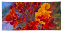 Red Flower 1 Beach Towel