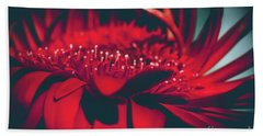 Red Flowers Parametric Beach Towel by Sharon Mau