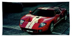 Red Ford Gt Beach Sheet