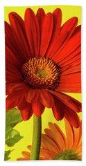 Red Gerbera Daisy 2 Beach Towel by Richard Rizzo