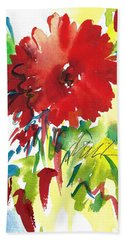 Gerberas Red, White, And Blue Beach Towel