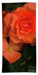 Red Giant Begonia Ruffle Form Beach Towel