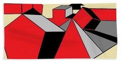 Red, Grey, Cream 2 Beach Sheet
