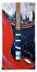Red Guitar Beach Sheet