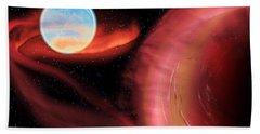 Red Hot Binary Star Beach Towel
