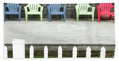 Red Hued Step-chair Beach Towel