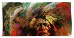 Red Indians 02 Beach Towel