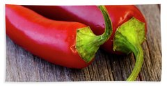 Red Jalapeno Peppers Beach Towel