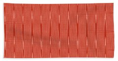 Red Janca Abstract Panel #1151ew1abr Beach Towel