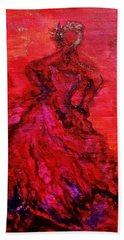 Red Lady Beach Towel