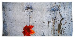 Beach Towel featuring the photograph Red Leaf by Donna Lee