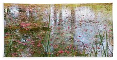 Beach Towel featuring the photograph Red Leaves Have Fallen by Michelle Calkins