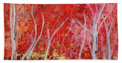 Crimson Leaves Beach Sheet