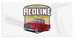 Red Line Garage Chevy Beach Towel