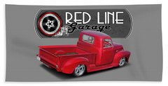 Red Line Garage Street Rod Beach Towel