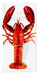 Red Lobster - Full Body Seafood Art Beach Towel
