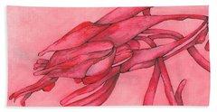 Red Lust Beach Sheet by Versel Reid
