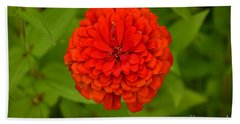 Red Marigold Beach Towel