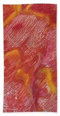 Red Monoprint One Beach Sheet