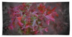 Red Oak Leaves, Grapevine Texas Beach Towel