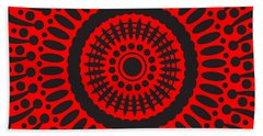Beach Towel featuring the digital art Red Passion by Lucia Sirna
