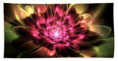 Red Peony Beach Towel by Svetlana Nikolova