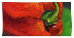 Red Pepper Still Life Beach Towel