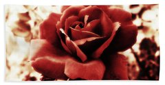 Red Petals Beach Towel
