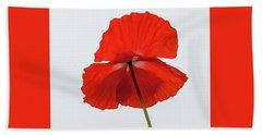 Red Poppy Beach Sheet
