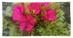 Red-purple Flower Beach Towel