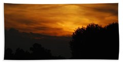 Red Red Sunset Beach Towel
