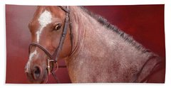 Red Roan Beach Sheet by Kathy Russell