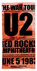 Red Rock Concert Beach Towel by Gary Grayson