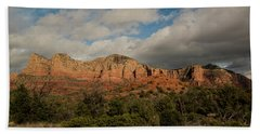 Red Rock Country Sedona Arizona 3 Beach Towel by David Haskett