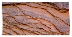 Beach Towel featuring the photograph Red Rock Ripples by PJ Boylan