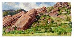 Red Rocks Amphitheatre Beach Towel