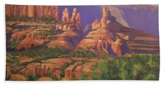 Red Rocks Sedona Beach Towel