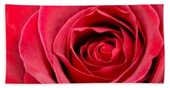 Beach Towel featuring the photograph Red Rose by DJ Florek