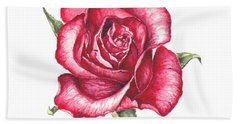 Beach Towel featuring the painting Red Rose by Heidi Kriel