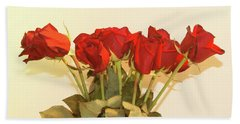 Beach Sheet featuring the photograph Red Rose Portrait by Margie Avellino