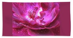 Red Rose Rain Dance - 2nd In A Series Of 6 Beach Towel