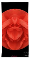 Red Rose Sphere Beach Towel