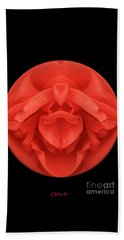 Red Rose Sphere Beach Sheet