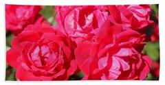 Red Roses 1 Beach Sheet