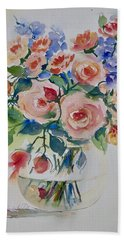 Red Roses Beach Sheet