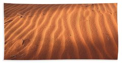 Beach Towel featuring the photograph Red Sand Dune Ripples In Detail by Keiran Lusk