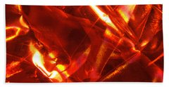 Red Satin Universe Photograph Beach Sheet